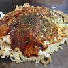 ラーメン党 - 料理写真:「お好み焼(うどん入り)豚玉 小(1玉)」(500円)