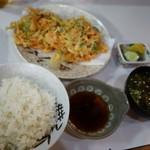 むさし - (2016/9月)「桜えびかき揚げ定食」