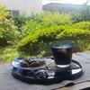 古民家 久米邸 - 料理写真:涼しげで美味しかった「特製の黒糖くずもち 珈琲付き (700円)」