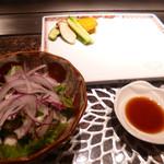 最上亭 - 野菜とサラダ