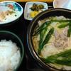 うちだ屋 - 料理写真:もつ鍋中華めん・白メシセット 880円 ヤワめ・モッチーニな麺が面白い モツは多くないが旨味は出てます