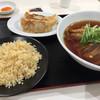 黄金の華 - 料理写真:あっさり醤油ラーメン、餃子、チャーハンセット。