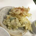 天ぷら定食ふじしま - 天ぷら5種の盛り合わせ