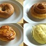 パン工房 ル・ジャルダンブラン - グラハムロード、シナモンロール、アップルパイ、メロンパン