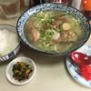 安さん - 料理写真:琉球そば(白飯付)650円 (ソーキ肉軟骨煮入り温かいそば)