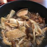 一酵や - キノコつけ麺、玉子付き