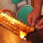 関下焼だんご - 料理写真:焼き途中