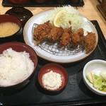 とんかつ伊勢 - 2016/10カキフライ定食
