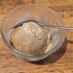 57115738 - ランチのほうじ茶アイスクリーム