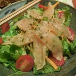 57116330 - 千葉県富里産 採れたて野菜と鶏ハムサラダ