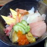八王子総合卸売センター 市場寿司 たか - 特豪海丼1,500円