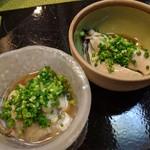 すし処なかみぞ - 昆布森、厚岸産の牡蠣 食べ比べ