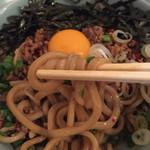 菜良 - 存在感のある自家製太麺♫風味 食感 良い感じです