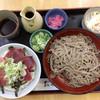 そば処 二城 - 料理写真:お蕎麦&まぐろ丼ランチ 1,200円