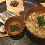 茶洒 金田中 - 鯖と秋刀魚のお寿司と支那そば