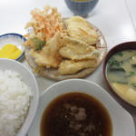 天ぷら定食ふじしま - 天ぷら定食580円