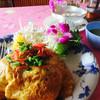 バーンチャオプラヤー - 料理写真:ランチのパッタイセット(前菜、スープ、デザート付き)1058円税込