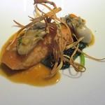 レストランパフューム - 魚料理:サーモンのソテー