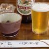 ほたて - ドリンク写真:ビール¥450-おつまみ付