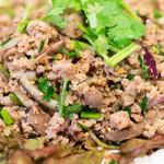 バーン・タム - 2016.10 ラープムーイサーン(イサーン風豚挽き肉和え)