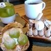 苺凛香 - 料理写真:季節の生シュー、ワインゼリー、モンブラン