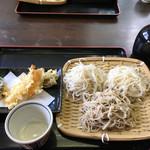 上総屋 - 料理写真:三色天もり('16/10/10)