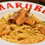 自家製パスタ洋食堂 マルブン - 赤エビのトマトクリームパスタ