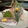 鳥の巣 - 料理写真:『活かわはぎ小』2,980円と『活あじ』680円