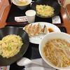 火道 - 料理写真:広東チャーハン、焼き餃子、半ラーメンのセット。880円。