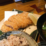 57215325 - 吟上ロースカツ定食  (中) 1380円+税
