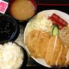 炭火焼 ぢどり家 - 料理写真:ジャンボチキンカツ(勝つ)定食