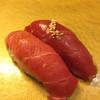 まんてん鮨 - 料理写真:鮪の食べ比べ(トロと赤身の漬け)