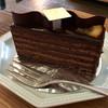 ショコラブラン - 料理写真:オレンジ風味のチョコレートケーキ ♪