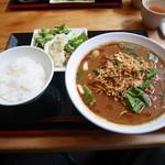 中国菜シンペイ - 担担麺大盛り、サラダセット