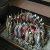 山﨑旅館 - 料理写真:岩魚を炭火で焼いてます
