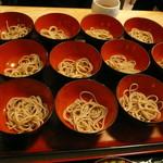 泉橋庵 - 料理写真:わんこそばH28.10.9