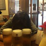 57333709 - 生ビール500円。ツレのおばちゃん0円