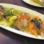 三陸ワイン食堂 LE ALE - 本日のカルパッチョ五種盛り  1、500円  フルサイズ