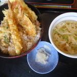 夢庵 - ランチの天丼セット 599円