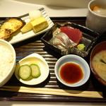 五丁目 千 きいろ - 黒むつ西京焼きランチ・美味しい鮪とイボ鯛の刺身