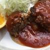 日の出 - 料理写真:ハンバーグ肉汁じゅわー