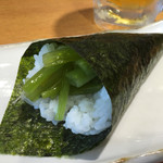 沼津魚がし鮨  - わさびつんつん手巻き175円