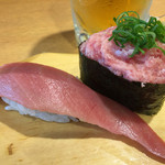 沼津魚がし鮨  - 中トロ&ねぎトロ軍艦420円