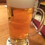 銀座洋食 三笠會館 - 生ビール ジョッキ