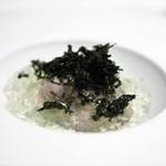 エディション・コウジ シモムラ - 牡蠣の冷製 柑橘と海水のジュレ