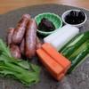 丹波の宿 恵泉 - 料理写真:夕食 丹波セット(ボタン肉ソーセージと野菜スティック)