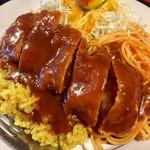 かみんぐ - トルコライス@750円  ドライカレー+カツレツ+ナポリタンの組合せ!それぞれ美味しい!