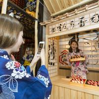 寿司屋台では無料着物で撮影可!日本文化を体験フォトジェニック