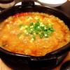 揚子江 - 料理写真:目の前でアツアツ器にジュッーと盛ってくれる めちゃ旨麻婆豆腐♡⃛✨