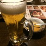 居酒屋 かまどか - やっぱり乾杯はビール
